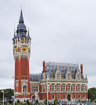 Calais, Town Hall, France, Building, Town Hall Tower