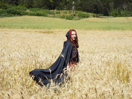 Witch, Fantasy, Crow, Fear, Terror, Spell, Fields
