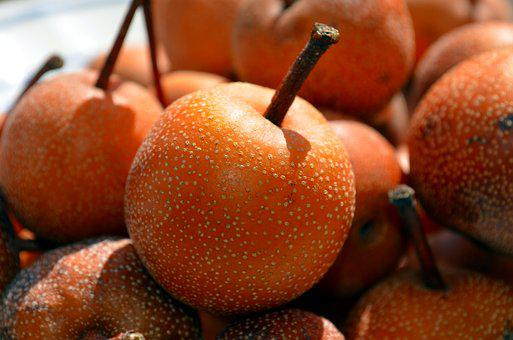 Pears Nashi, Nashi, Pears-apples, Fruit