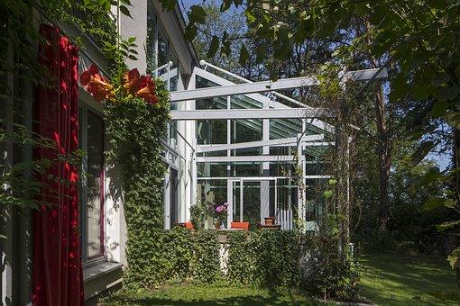 Winter Garden, Glass, Canopy, Home, Garden, Living Room