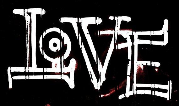 Love, Graffiti, Lettering, Background, Font, Texture