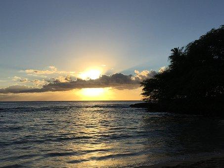 Hawaii, Paridise Cove, Sunset