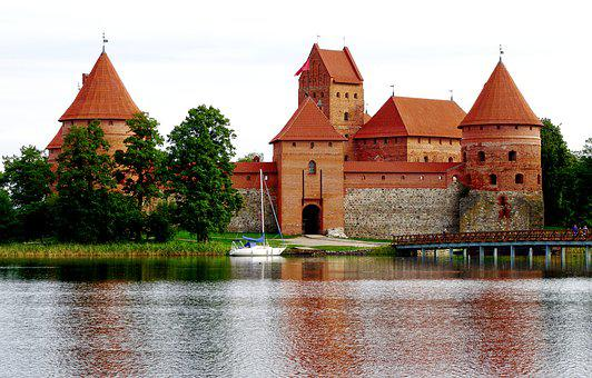 Trakai Castle, Wasserburg, Late Middle Ages, Lithuania