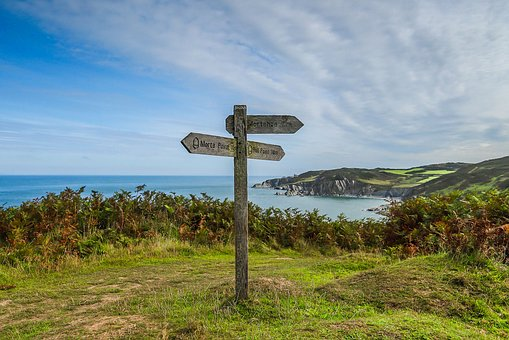 Coast, Bay, The Direction Of The, Ocean, England