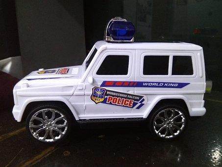 Jeep, Police Car, White Jeep