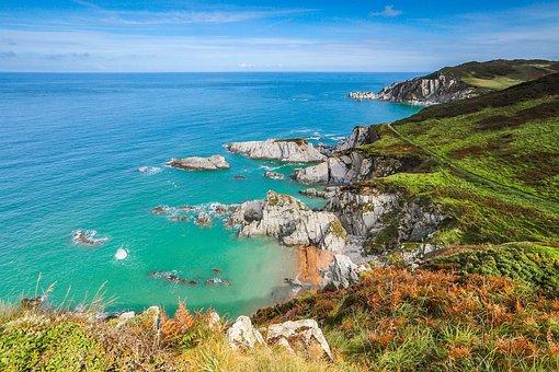 Reefs, Ocean, Coast, England
