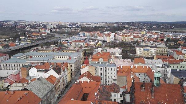 Pilsen, Roof, Square, City