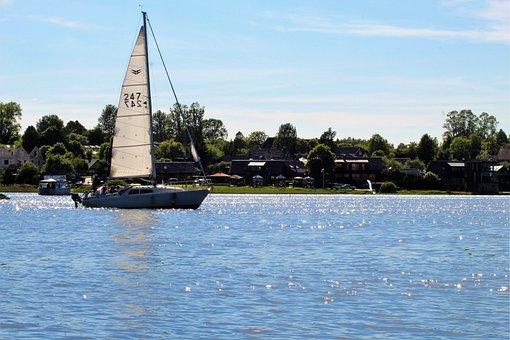 Ship, Boot, Water, Lake, Sea, Ocean, Summer, Sun, Sail