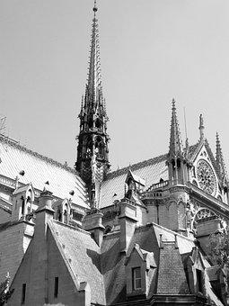 Paris, Fountain, Notre Dame, City, Capital, Travel