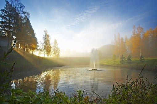 Pond, Autumn, Finnish, Nature