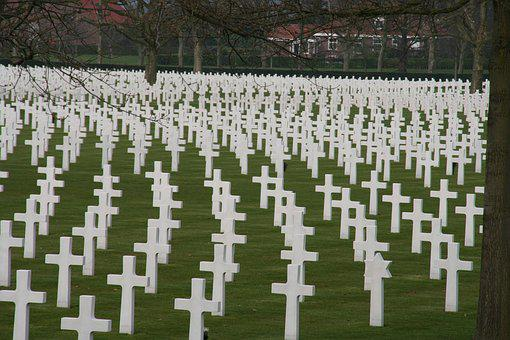 Grave, War, Cemetery, Tombstone, Second World War, Usa