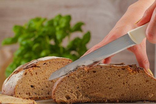 Bread Cutting, Bread, Knife, Food, Frisch, Homemade