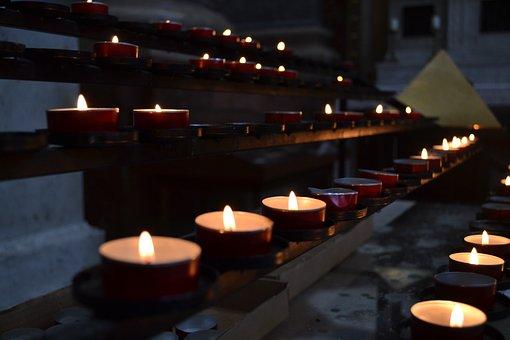 Candles, Church, Esztergom, Osřihom, Hungary