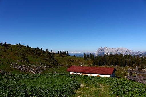 Alm, Hut, Meadow, Mountain, Mountain Landscape