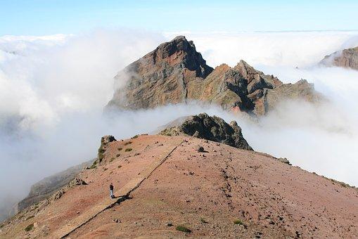 Mountains, Cliff, Nature, Landscape, Clouds, Way