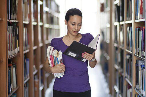Women's, Book, Read, Library, Photography, Photo, Young