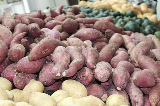 Fresh Vegetables, Root, Sweet Potato, Vegetarian