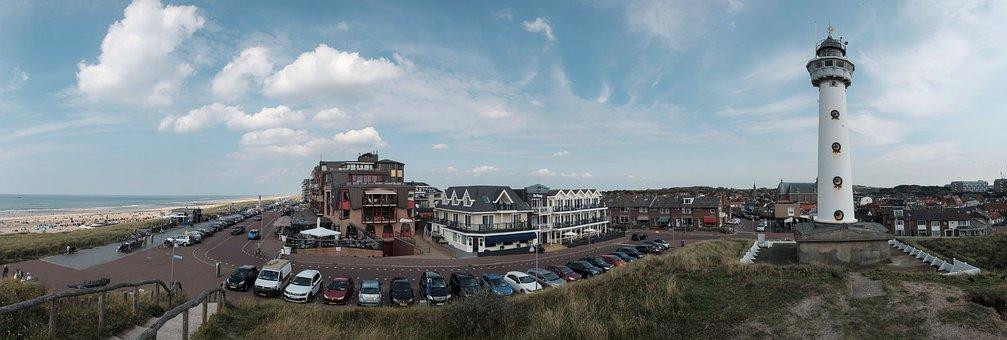 Egmond, Holland, Lighthouse, North Sea, Shipping, Sea