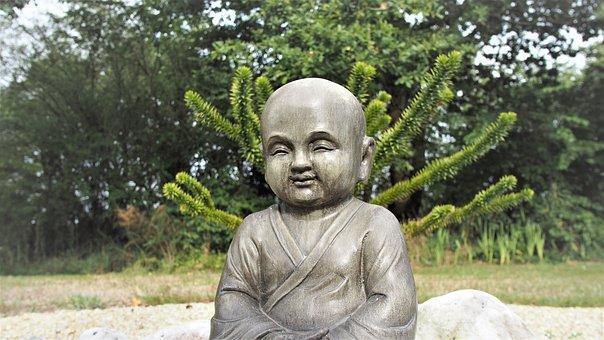 Buddha, Meditation, Statue, Pierre, Nature, Buddhism