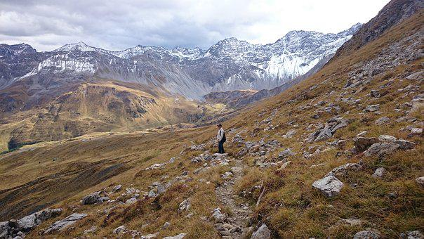 Mountain Route, The Alps, Wandering, Steep Slope