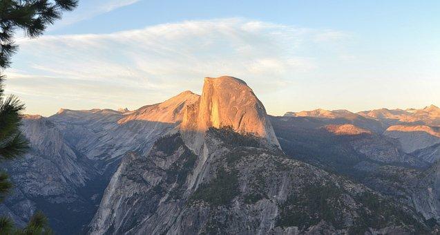 Yosemite, Half Dome, California, National Park, Usa