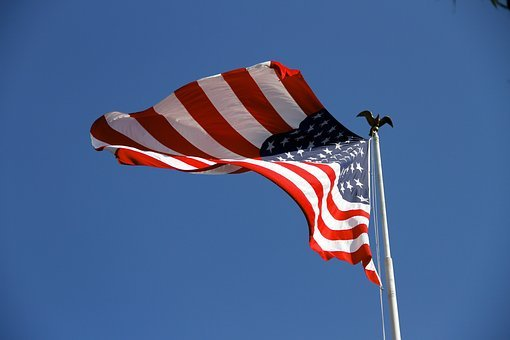 Flag, Usa, Am, Usa Flag, American, United, White, Blue