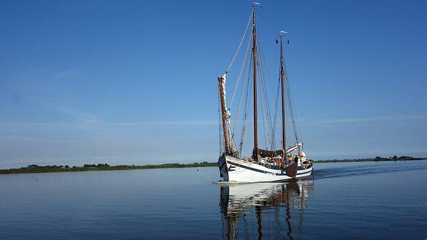 Flat Bottom, Boat, Sailing Ship, Sailing Boat, Vessel