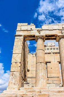 Acropolis, Athens, Greece, Ancient, Greek, Architecture