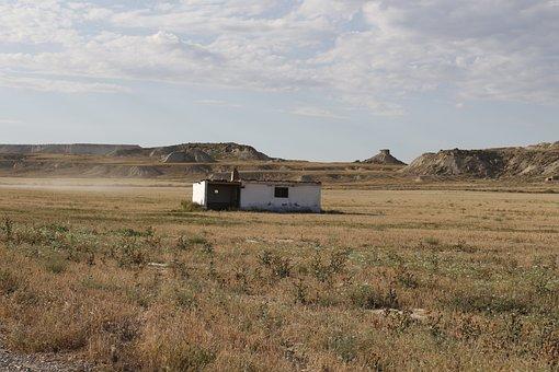 Navarre, Spain, Desert, Landscape, Arid, Dry