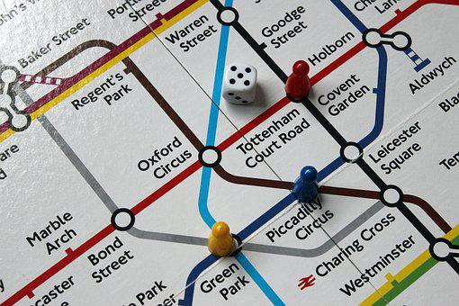 Underground, Tube Map, Stations, Board Game, Map, Tube