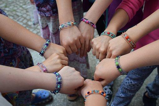 Birthday, Beads, Children