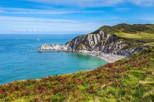 Lagoon, Coast, Beach, Ocean, England