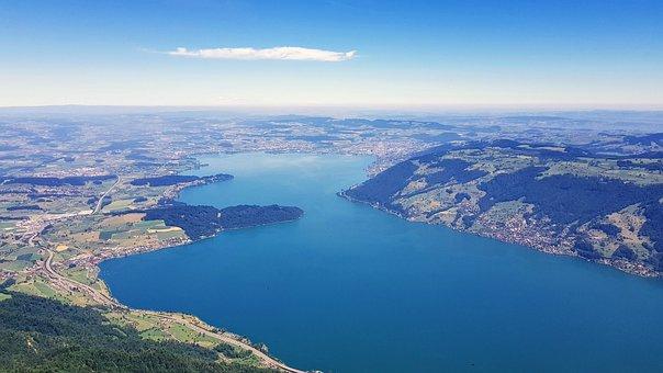 Lake, View, Landscape, Blue, Water, Distant, Nature