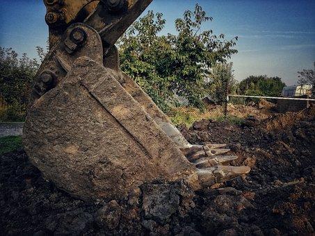 Excavator, Excavation, Work, Building, Equipment, Works