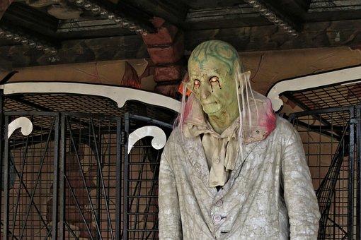 Oktoberfest, Munich, Ghost Train, Spooky, Creepy, Ride