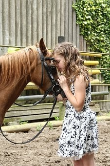 Girl, Human, Child, Pony, Reiter, Horsewoman, Person