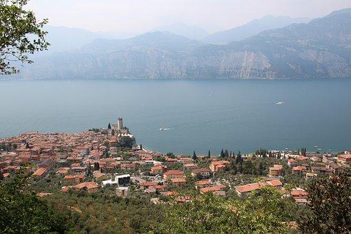 Italy, Malcesine, Garda, Lake, Landscape, At Malcesine