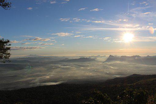 Kradueng, Nature, The Sun, Thailand, Cliff, Adventure