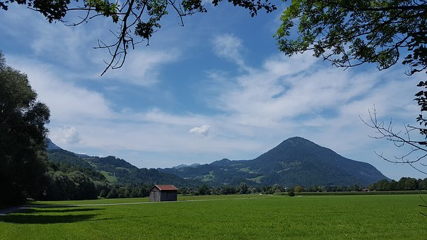 Landscape, Mountain, Meadow, Landscapes, Sky, Mood