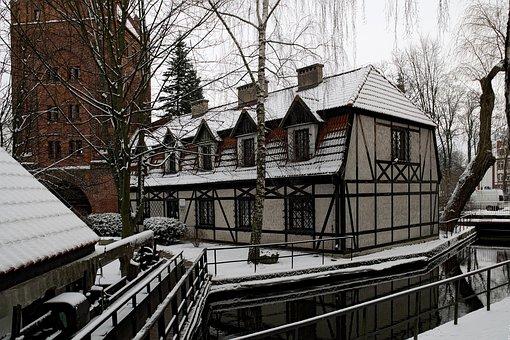 White Building, Monument, White, Monuments, Poland