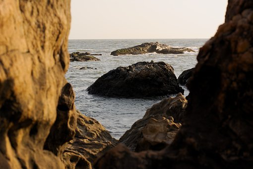 Rock, Water, Ocean, Rock Formations, Sea, Nature, Blue