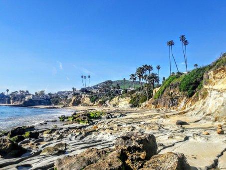 Laguna Beach, California, Coast, Ocean, Water, Sand