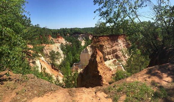Providence Canyon, Canyon, Georgia, Sand, Clay, Sunny