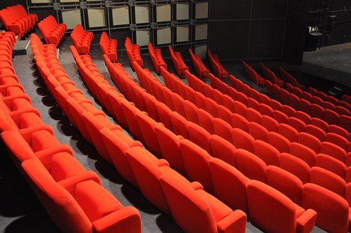Red, Theatre, Armchairs, Show, Public, Spectators
