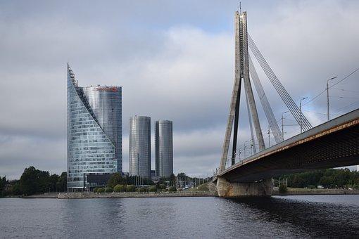 Bridge, Skyscraper, City, Architecture, Urban, Travel