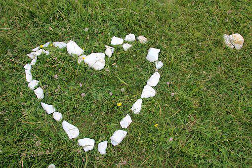 Heart, Stone Heart, Meadow, Love, Welcome, Stone