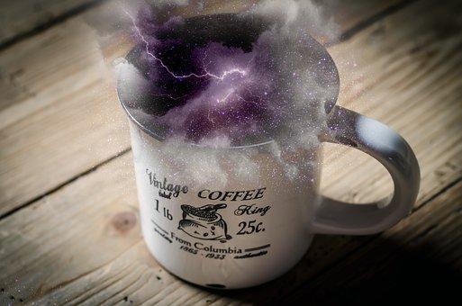 Space, Storm, Coffee, Cup, Cloud, Light, Weather, Dark