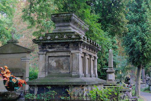 Cemetery, Old Cemetery, The Sarcophagus, Monument, Old