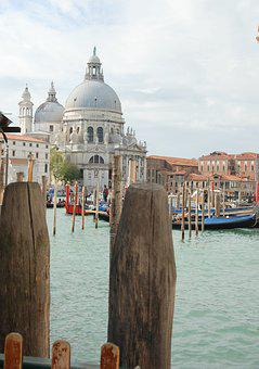 Venice, Water, Ship, Flag, Italy, Holiday, Channel