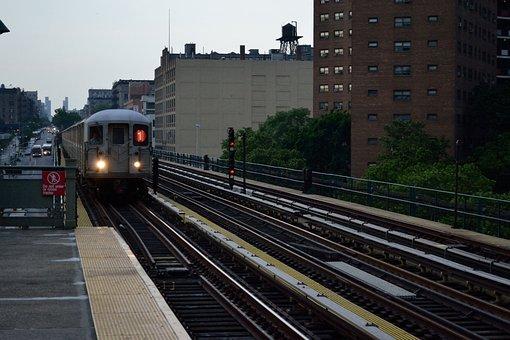 New York, Subway, Train, 1 Train, 125th Street, Harlem